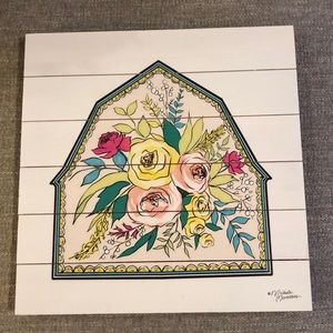 NWOT Urban outfitters flowered wall hanging